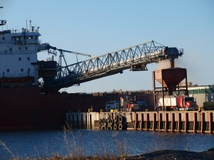 CSL Huron discharging MegaMag in Charlottetown