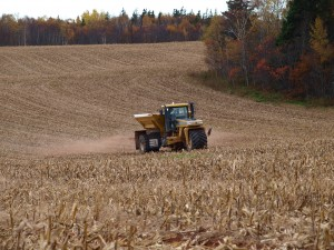 Fall Application of MegaMag on Corn Stubble