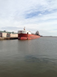 CSL Huron tied up in Summerside ready to discharge CalMag